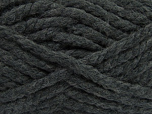 Fiber Content 55% Acrylic, 45% Wool, Brand Ice Yarns, Dark Grey, Yarn Thickness 6 SuperBulky Bulky, Roving, fnt2-45121