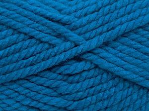 Fiber Content 55% Acrylic, 45% Wool, Brand Ice Yarns, Blue, Yarn Thickness 6 SuperBulky Bulky, Roving, fnt2-45128