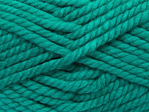 Fiber Content 55% Acrylic, 45% Wool, Brand Ice Yarns, Emerald Green, Yarn Thickness 6 SuperBulky Bulky, Roving, fnt2-45130