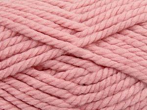 Fiber Content 55% Acrylic, 45% Wool, Light Pink, Brand Ice Yarns, Yarn Thickness 6 SuperBulky Bulky, Roving, fnt2-45133