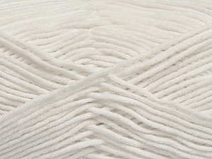 Fiber Content 55% Cotton, 45% Acrylic, White, Brand Ice Yarns, Yarn Thickness 4 Medium  Worsted, Afghan, Aran, fnt2-45138