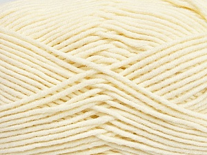 Fiber Content 55% Cotton, 45% Acrylic, Brand Ice Yarns, Cream, Yarn Thickness 4 Medium  Worsted, Afghan, Aran, fnt2-45143