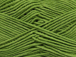 Fiber Content 55% Cotton, 45% Acrylic, Brand Ice Yarns, Green, Yarn Thickness 4 Medium  Worsted, Afghan, Aran, fnt2-45145