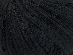 Fiber Content 79% Cotton, 21% Viscose, Brand Ice Yarns, Black, Yarn Thickness 3 Light  DK, Light, Worsted, fnt2-45185