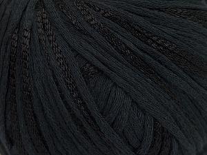 Fiber Content 79% Cotton, 21% Viscose, Brand Ice Yarns, Black, Yarn Thickness 3 Light DK, Light, Worsted, fnt2-45185