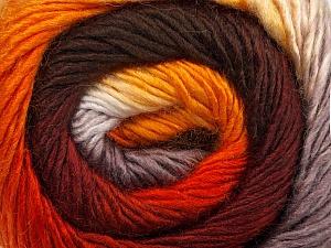 Fiber Content 50% Acrylic, 50% Wool, Orange, Brand Ice Yarns, Grey, Gold, Brown, Yarn Thickness 2 Fine  Sport, Baby, fnt2-45315