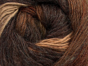 Fiber Content 40% Wool, 30% Acrylic, 30% Mohair, Brand Ice Yarns, Brown Shades, Yarn Thickness 3 Light  DK, Light, Worsted, fnt2-45797