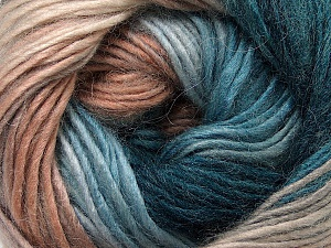 Fiber Content 40% Wool, 30% Acrylic, 30% Mohair, Turquoise, Brand Ice Yarns, Camel, Brown Shades, Yarn Thickness 3 Light  DK, Light, Worsted, fnt2-45800