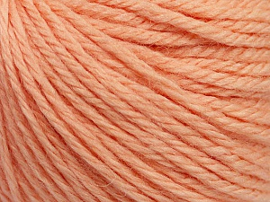 Fiber Content 40% Merino Wool, 40% Acrylic, 20% Polyamide, Light Salmon, Brand Ice Yarns, Yarn Thickness 3 Light  DK, Light, Worsted, fnt2-45812
