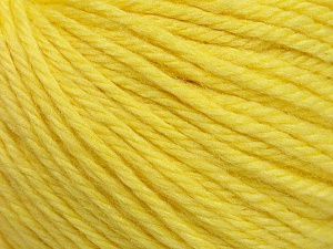 Fiber Content 40% Merino Wool, 40% Acrylic, 20% Polyamide, Light Yellow, Brand Ice Yarns, Yarn Thickness 3 Light  DK, Light, Worsted, fnt2-45815