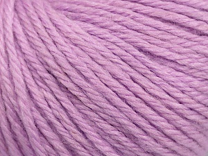 Fiber Content 40% Merino Wool, 40% Acrylic, 20% Polyamide, Light Lilac, Brand Ice Yarns, Yarn Thickness 3 Light  DK, Light, Worsted, fnt2-45825