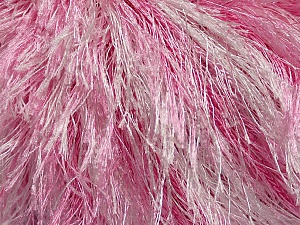 Fiber Content 100% Polyester, White, Pink, Brand Ice Yarns, Yarn Thickness 5 Bulky  Chunky, Craft, Rug, fnt2-46087