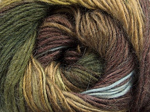 Fiber Content 40% Wool, 30% Acrylic, 30% Mohair, Brand Ice Yarns, Green Shades, Brown Shades, Yarn Thickness 3 Light  DK, Light, Worsted, fnt2-46393