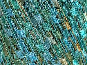 Trellis  Fiber Content 100% Polyester, Turquoise, Mint Green, Brand Ice Yarns, Cafe Latte, Yarn Thickness 5 Bulky  Chunky, Craft, Rug, fnt2-46511