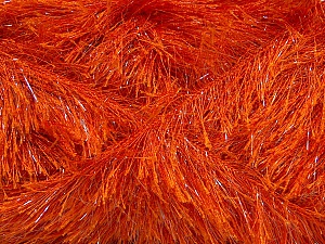 Fiber Content 80% Polyester, 20% Lurex, Orange, Brand Ice Yarns, Yarn Thickness 5 Bulky Chunky, Craft, Rug, fnt2-46554