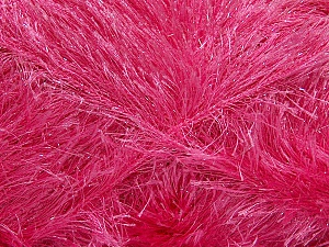 Fiber Content 80% Polyester, 20% Lurex, Pink, Brand Ice Yarns, Yarn Thickness 5 Bulky Chunky, Craft, Rug, fnt2-46558