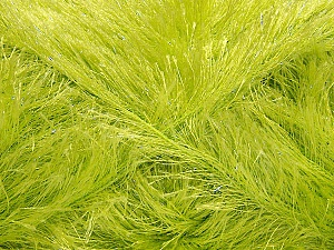 Fiber Content 80% Polyester, 20% Lurex, Light Green, Brand Ice Yarns, Yarn Thickness 5 Bulky Chunky, Craft, Rug, fnt2-46559