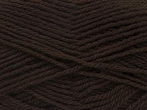 Fiber Content 60% Acrylic, 40% Wool, Brand Ice Yarns, Dark Brown, Yarn Thickness 3 Light  DK, Light, Worsted, fnt2-46733