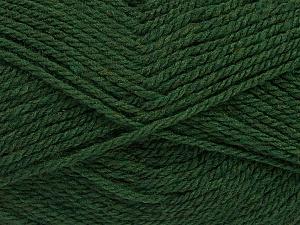 Fiber Content 60% Acrylic, 40% Wool, Brand Ice Yarns, Dark Green, Yarn Thickness 3 Light  DK, Light, Worsted, fnt2-46740