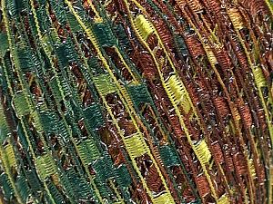 Trellis  Fiber Content 95% Polyester, 5% Lurex, Silver, Brand Ice Yarns, Green Shades, Brown Shades, Yarn Thickness 5 Bulky  Chunky, Craft, Rug, fnt2-46800
