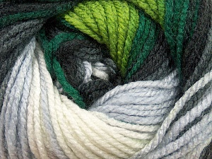 Fiber Content 100% Acrylic, White, Brand Ice Yarns, Grey, Green Shades, Black, Yarn Thickness 4 Medium  Worsted, Afghan, Aran, fnt2-46962
