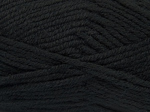 Fiber Content 50% Acrylic, 25% Wool, 25% Alpaca, Brand Ice Yarns, Black, Yarn Thickness 5 Bulky  Chunky, Craft, Rug, fnt2-47129