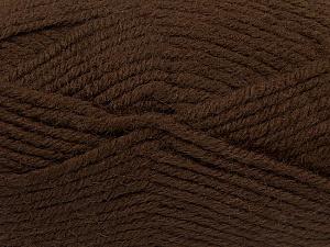 Fiber Content 50% Acrylic, 25% Wool, 25% Alpaca, Brand Ice Yarns, Dark Brown, Yarn Thickness 5 Bulky  Chunky, Craft, Rug, fnt2-47133