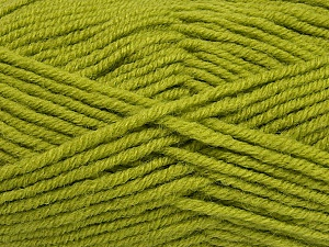 Fiber Content 50% Acrylic, 25% Wool, 25% Alpaca, Light Green, Brand Ice Yarns, Yarn Thickness 5 Bulky  Chunky, Craft, Rug, fnt2-47139