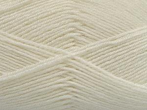 Fiber Content 60% Merino Wool, 40% Acrylic, Off White, Brand Ice Yarns, Yarn Thickness 2 Fine  Sport, Baby, fnt2-47162
