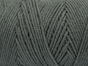 Items made with this yarn are machine washable & dryable. Fiber Content 100% Dralon Acrylic, Brand Ice Yarns, Dark Grey, Yarn Thickness 4 Medium  Worsted, Afghan, Aran, fnt2-47171