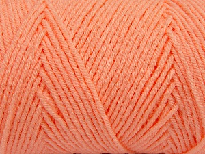 Items made with this yarn are machine washable & dryable. Fiber Content 100% Dralon Acrylic, Light Orange, Brand Ice Yarns, Yarn Thickness 4 Medium  Worsted, Afghan, Aran, fnt2-47183