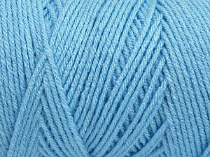 Items made with this yarn are machine washable & dryable. Fiber Content 100% Dralon Acrylic, Light Blue, Brand Ice Yarns, Yarn Thickness 4 Medium  Worsted, Afghan, Aran, fnt2-47185
