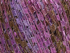 Trellis  Fiber Content 95% Polyester, 5% Lurex, Orchid, Lilac, Brand Ice Yarns, Camel, Yarn Thickness 5 Bulky  Chunky, Craft, Rug, fnt2-47230