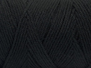 Items made with this yarn are machine washable & dryable. Fiber Content 100% Dralon Acrylic, Brand Ice Yarns, Black, Yarn Thickness 4 Medium  Worsted, Afghan, Aran, fnt2-47395
