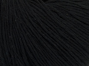 Fiber Content 100% Cotton, Brand Ice Yarns, Black, Yarn Thickness 1 SuperFine  Sock, Fingering, Baby, fnt2-47511