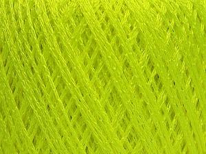 Fiber Content 60% Polyamide, 40% Viscose, Neon Green, Brand Ice Yarns, Yarn Thickness 2 Fine  Sport, Baby, fnt2-48389