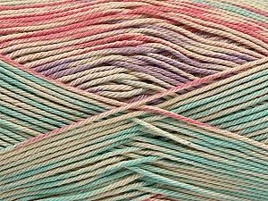 Fiber Content 100% Mercerised Cotton, Salmon, Mint Green, Lilac, Brand Ice Yarns, Beige, Yarn Thickness 2 Fine  Sport, Baby, fnt2-48625