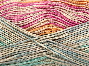Fiber Content 100% Mercerised Cotton, Pink, Orange, Mint Green, Brand Ice Yarns, Blue, Beige, Yarn Thickness 2 Fine  Sport, Baby, fnt2-48628