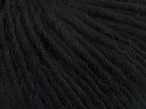Fiber Content 50% Merino Wool, 25% Alpaca, 25% Acrylic, Brand Ice Yarns, Black, Yarn Thickness 5 Bulky  Chunky, Craft, Rug, fnt2-48695