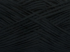 Fiber Content 50% Cotton, 50% Acrylic, Brand Ice Yarns, Black, Yarn Thickness 2 Fine  Sport, Baby, fnt2-49416