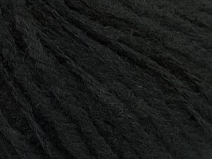 Fiber Content 50% Wool, 30% Acrylic, 20% Alpaca, Brand ICE, Black, Yarn Thickness 4 Medium Worsted, Afghan, Aran, fnt2-49428