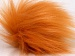 2 Faux Fur PomPoms Light Orange