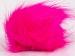 2 Faux Fur PomPoms Neon Pink