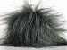 2 Faux Fur PomPoms Grey Shades