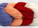 Art Color Cotton Lilac, Light Salmon, Red, White