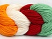 Art Color Cotton White Red Mint Green Gold