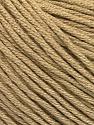 Fiber Content 60% Bamboo, 40% Cotton, Light Camel, Brand Ice Yarns, Yarn Thickness 3 Light  DK, Light, Worsted, fnt2-50536