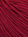 Fiber Content 60% Cotton, 40% Acrylic, Brand Ice Yarns, Burgundy, Yarn Thickness 2 Fine  Sport, Baby, fnt2-51210