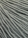 Fiber Content 60% Cotton, 40% Acrylic, Brand Ice Yarns, Grey, Yarn Thickness 2 Fine  Sport, Baby, fnt2-51215