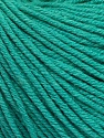 Fiber Content 60% Cotton, 40% Acrylic, Brand Ice Yarns, Emerald Green, Yarn Thickness 2 Fine  Sport, Baby, fnt2-51225